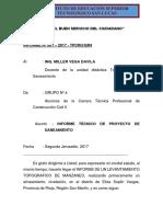 Informe de Saneamiento PDF