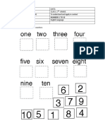 WORKSHEET 1° AÑO NUMBERS 1 TO 10  cut and paste
