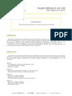 PDF Taller Intensivo de Voz - Del Habla Al Canto
