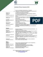 Calendario General de Actividades Primer Semestre 2018 VERSIÓN PRELIMINAR (1)