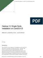Hadoop 2.2 Single Node Installation on CentOS 6