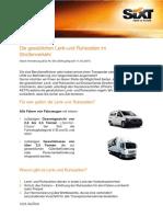 Sixt Rent a Truck Information Lenkzeiten 2015