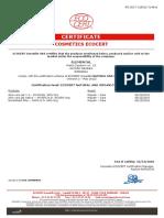 Certificat Mayam Ecocert 2018
