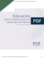 INEE Educación para la democracia y el desarrollo de México
