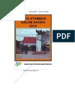 Kota Atambua Dalam Angka 2015