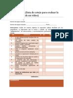 Lista de Cotejo Para Evaluacion de Equipo (Coevaluacion)