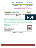 PHARMACOGENOMICS- A GENETIC APPROACH OF DRUG THERAPY