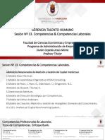 Sesión Nº 13. Competencias & Competencias Laborales