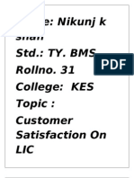 LIC Customer Satisfaction