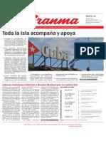 Diario Granma. 22 de mayo de 2018.