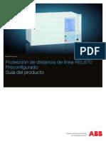 1MRK506280-BES a Es Proteccion de Distancia de Linea REL670 Preconfigurado Guia Del Producto