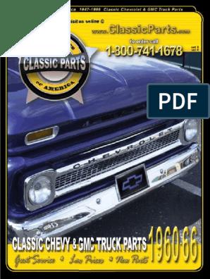 64-66 Chevy GMC Pickup Truck Headlight Lamp Switch Rod Stainless Black Knob New