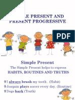 present simple   progressive
