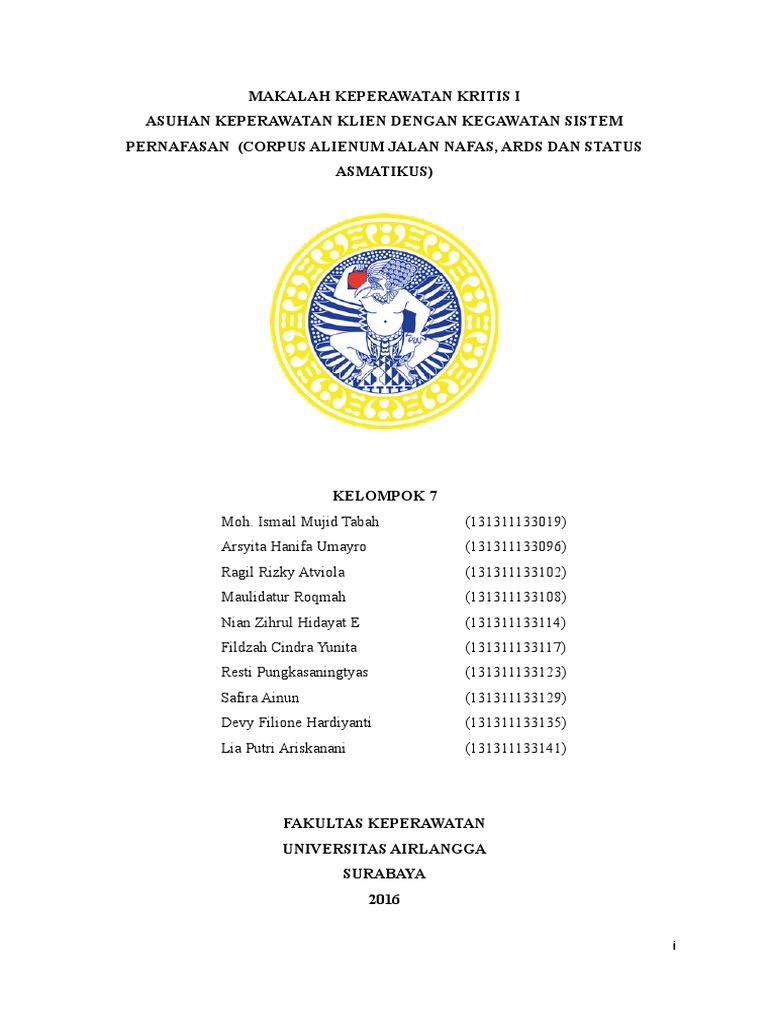 TM 7_Makalah Kegawatan Pernafasan Kep. KRITIS I Oleh Kel ...