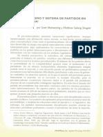 Presidencialismo y Sistema de Partidos en América Latina – Scott Mainwaring, Matthew Soberg Shugart