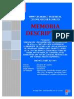 332554492 Memoria Del Proyecto Saneamiento
