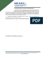 Acta de Entrega y Recepcion de Materiales