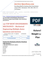 140 Top Engineering Mechanics Objective Questions and Answers