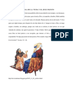PARÁBOLA DE LA VIUDA Y EL JUEZ INJUSTO