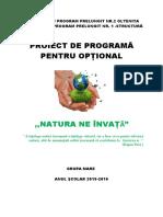 Natura Ne Invata - optional gradinita -