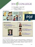 asl 201 syllabus - fall 2017