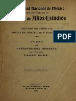 Franz Boas. cursos de antropología general