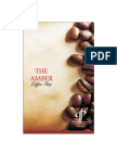 Amber Coffee Shop Menu