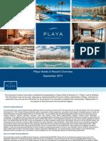 Playa Hotels & Resorts Overview (09.2017) v.6