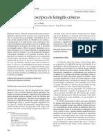 Valoracion Estroboscopica en Laringitis Cronica