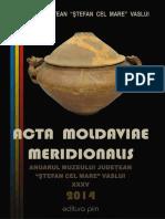 35 Acta Moldaviae Meridionalis XXXV 2014