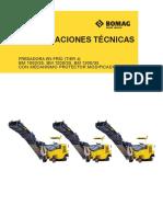 Especificaciones Tecnicas Fresadora Bomag