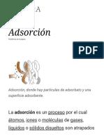Adsorción - Wikipedia, La Enciclopedia Libre