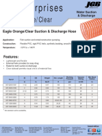 Eagle Orange Clear Hd Suction Hose