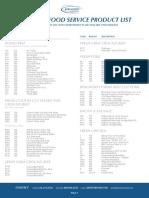 Berghorst Food Service - Product List