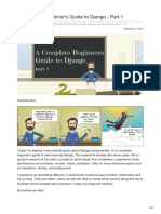Simpleisbetterthancomplex.com-A Complete Beginners Guide to Django - Part 1
