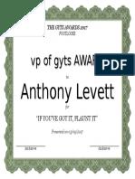 Anthony Levett