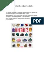 5 Minerales más importantes