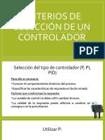 Criterios de Seleccion de Un Controlador