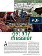 Water, Sanitation and Solid Waste Management - It can't get any messier