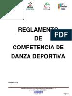 Reglamento de Danza Deportiva (Baile Deportivo)12-3(1)