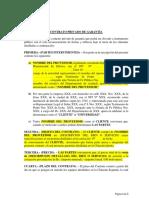 Modelo de Contrato de Garantia Octubre 2015