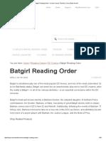 Batgirl Reading Order + Oracle Comics Timeline _ Comic Book Herald