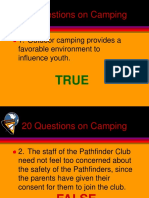 20 Questions on Camping