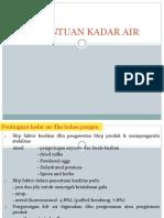2. KADAR AIR