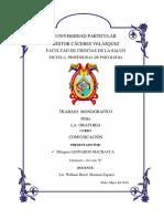 Monografia Sobre Oratoria Final de La UANCV