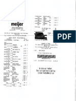 Meijer Receipts comparison