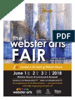 Webster Arts Fair 2018 program