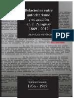2018 Py Autoritarismo y Educación 1954 1989