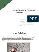 Etika Dan Regulasi Produk Boteknologi Tanaman