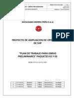 Plan de trabajo para obras preliminares